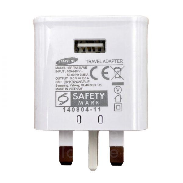 Genuine Samsung UK Mains Power Adapter 2.0A EP-TA12UWE