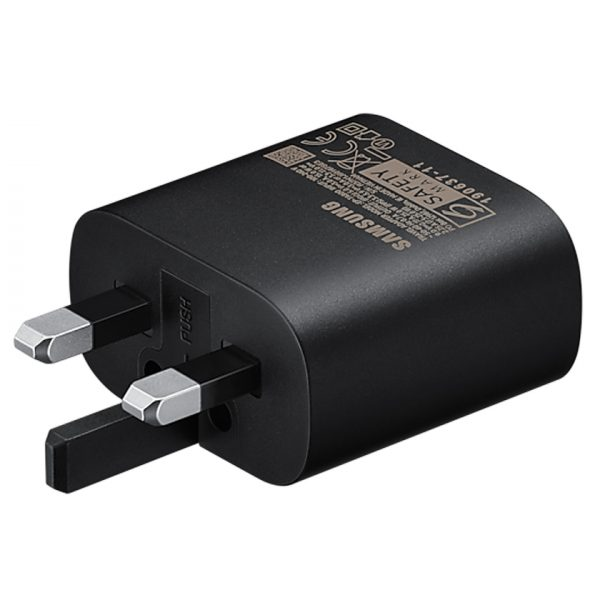 Genuine Samsung UK Super Fast Charger Mains Power Adapter Type C 25W Black EP-TA800